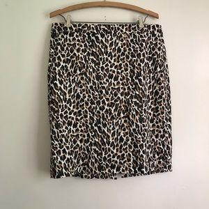 J.Crew cheetah skirt